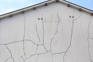 ダメージのある外壁