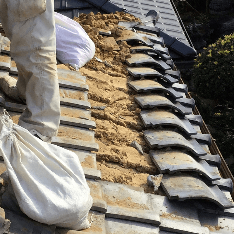 屋根葺き直し